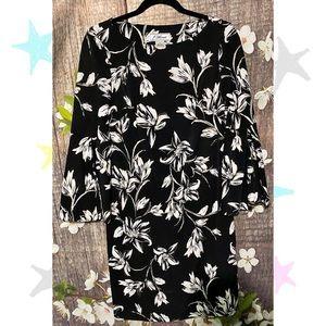 Jessica Howard Floral Print Dress Bell Sleeves